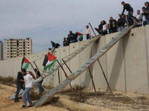 bridge over Zionist occupation wall