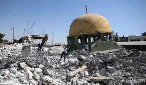 children-in-the-rubble-of-gaza-mosque-bombed-by-israel