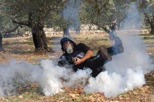 Israeli Tear gas press