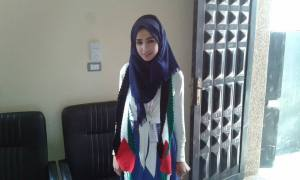 This is a picture of Enas Mohmad a Singer of Gaza City Palestine